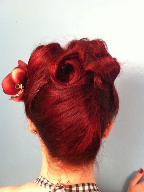 Redhead vintage hair