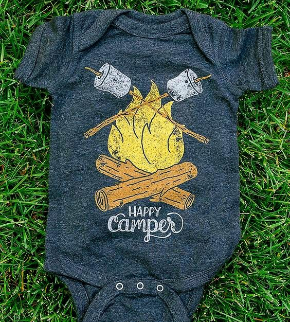 'Happy Camper' Onesie. Is this cute or what?!!
