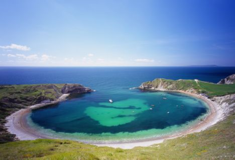 Lulworth cove in Dorest, UK was one of Enid Blyton's favourite haunts