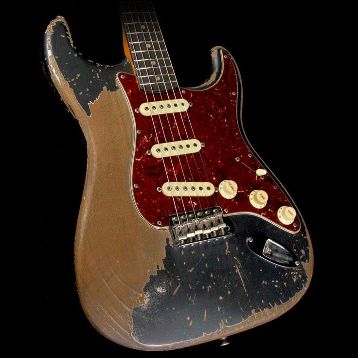 Fender Custom Shop Masterbuilt Jason Smith Music Zoo Ultimate Relic 1960 Stratocaster Guitar Charcoal Frost Metallic