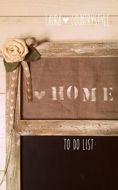 Country style: Shabby style: chalckboard