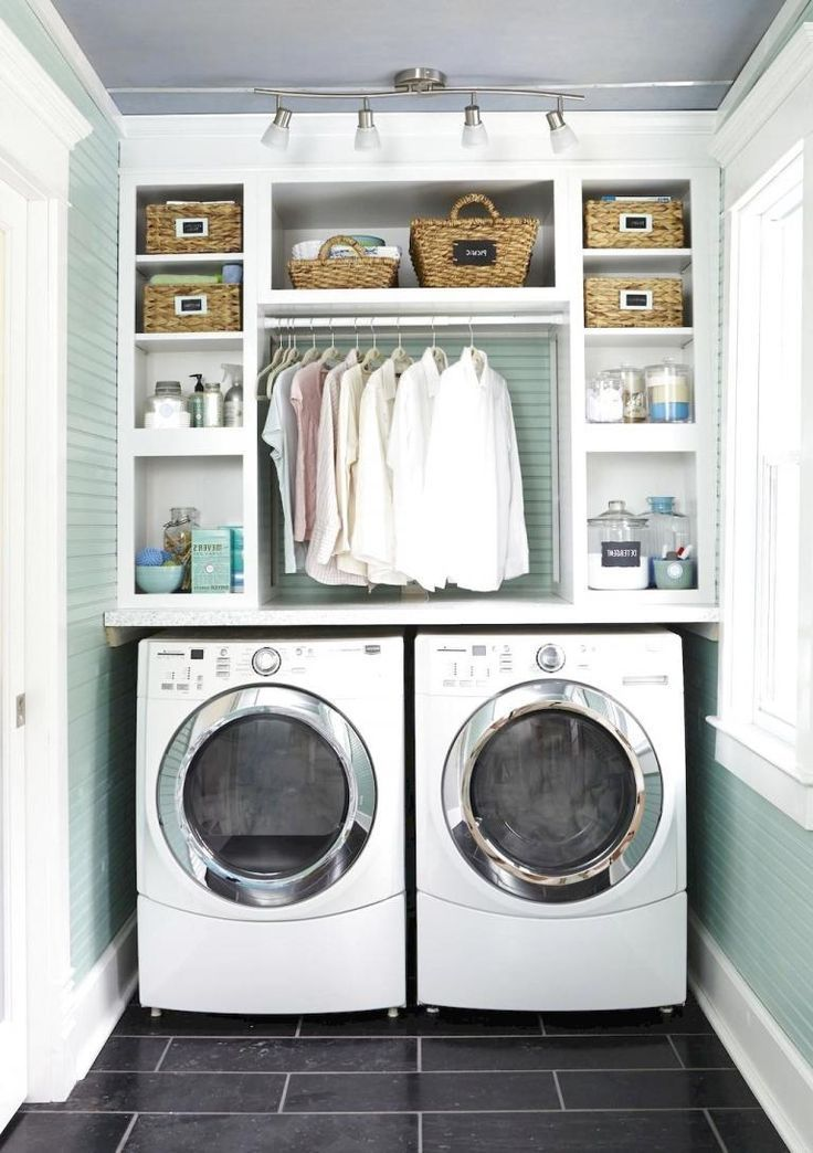 modern farmhouse laundry room ideas home laundry in bathroom rh pinterest com