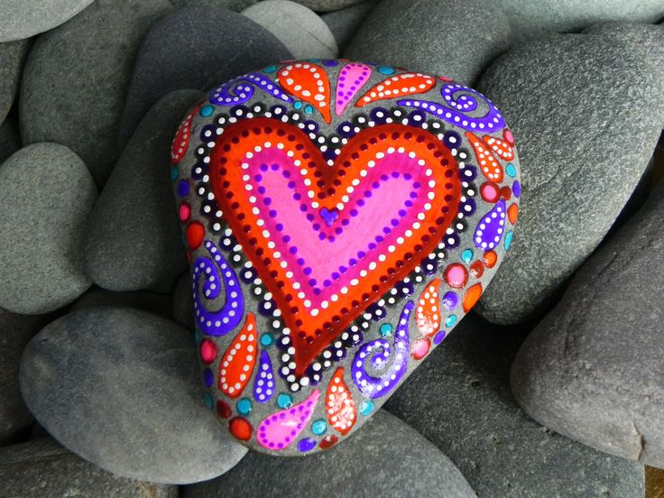 The Power of Love/Painted Rock by Sandi Pike by LoveFromCapeCod, $59.00