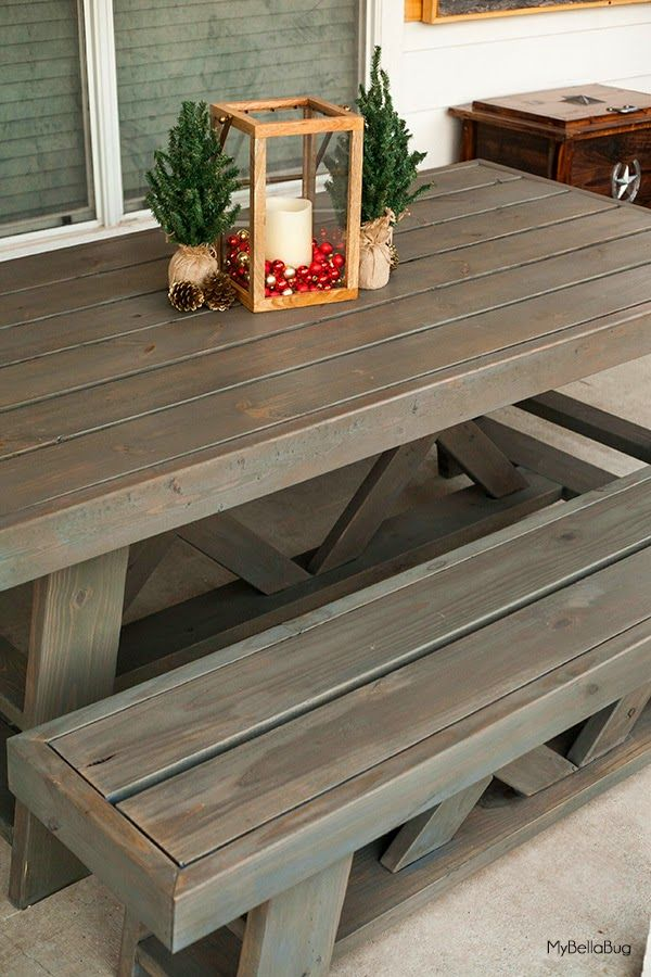 DIY Patio Table Shanty 2 Chic Outdoor Table Plans Pallet Patterns Pintere