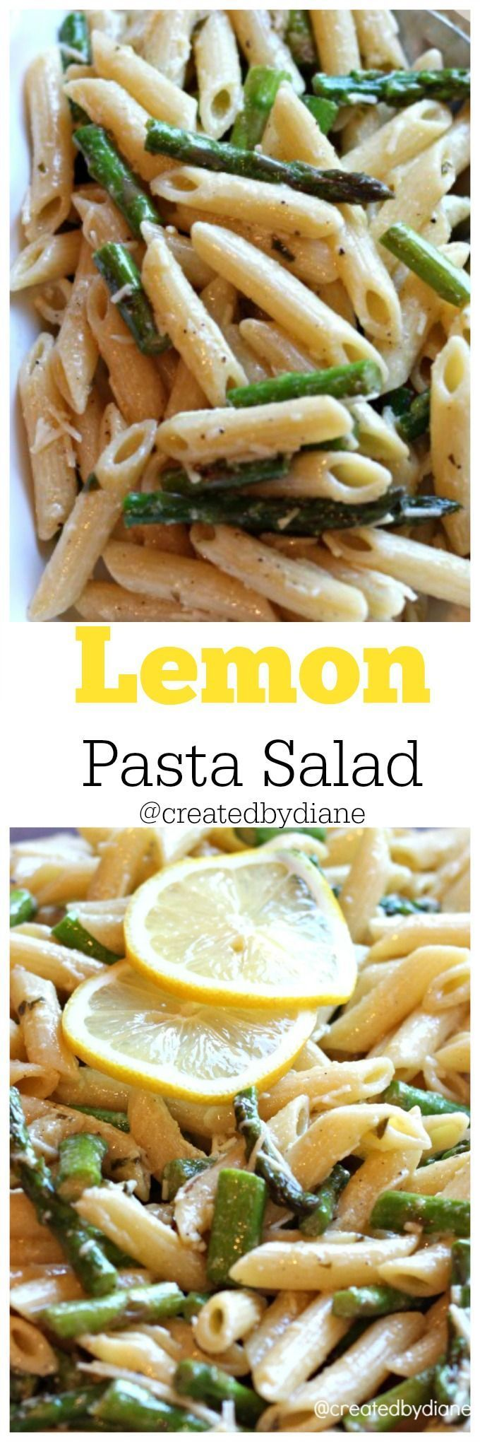 Lemon Pasta Salad recipe from @Created by Diane