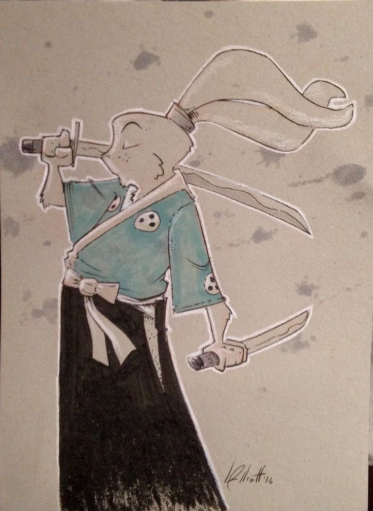 Usagi Yojimbo commission by Lucas Elliott, Emerald City Comicon, Seattle WA 2016