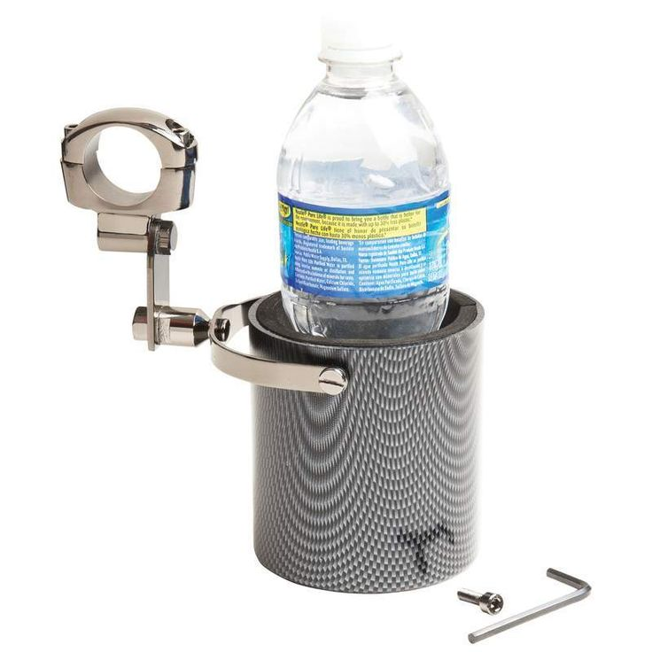 Diamond Plate Graphite Design Motorcycle Cup Holder