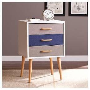 Franklin Storage Cabinet Triple Drawer White/Denim Blue/Gray - Southern Enterprises : Target