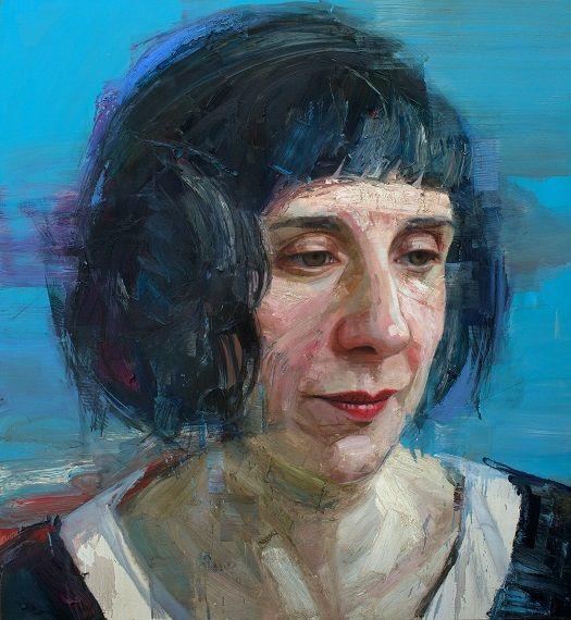 Colin Davidson...........Portrait of Sinead Morrissey 2014 oil on linen 127 x 117 cm