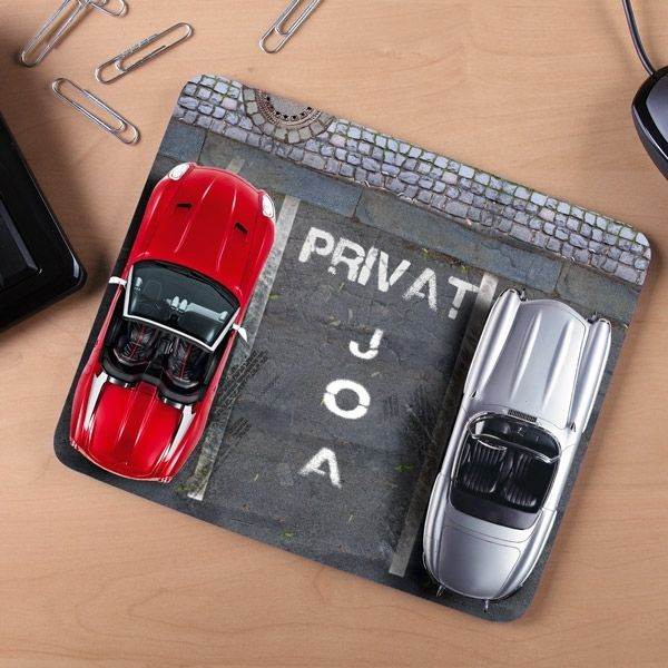 Personalisierbares Mousepad Parkplatz | design3000.de