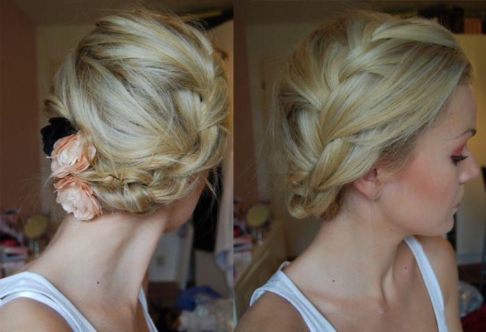 fryzury codzienna z warkoczem