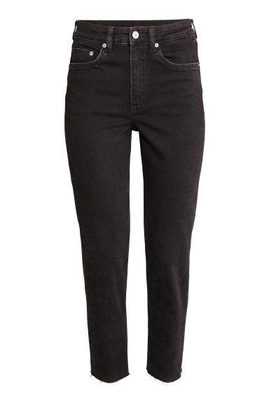 Vintage High Ankle Jeans - čierna texaskovina - ŽENY | H&M SK