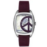 Fossil Women's ES2305 Peace Purple Leather Watch (Watch)By Fossil