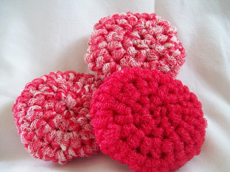 Free Pattern Crochet Nylon Pot Scrubbers : How To Make Kitchen Scrubbies Pack Crochet Nylon Kitchen ...