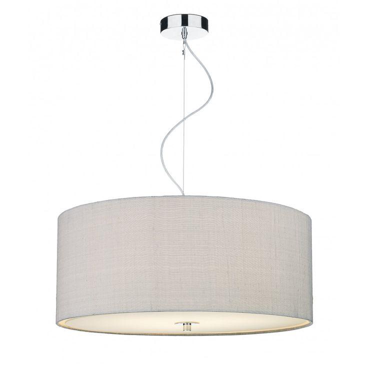 REN1039 Silver Grey Ceiling Pendant | Dar Renoir Small Pendant | 3 Light