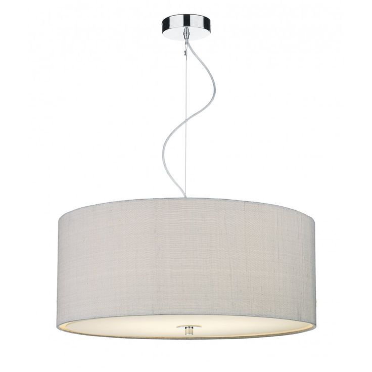 REN1039 Silver Grey Ceiling Pendant | Dar Renoir Small Pendant | 3 Light