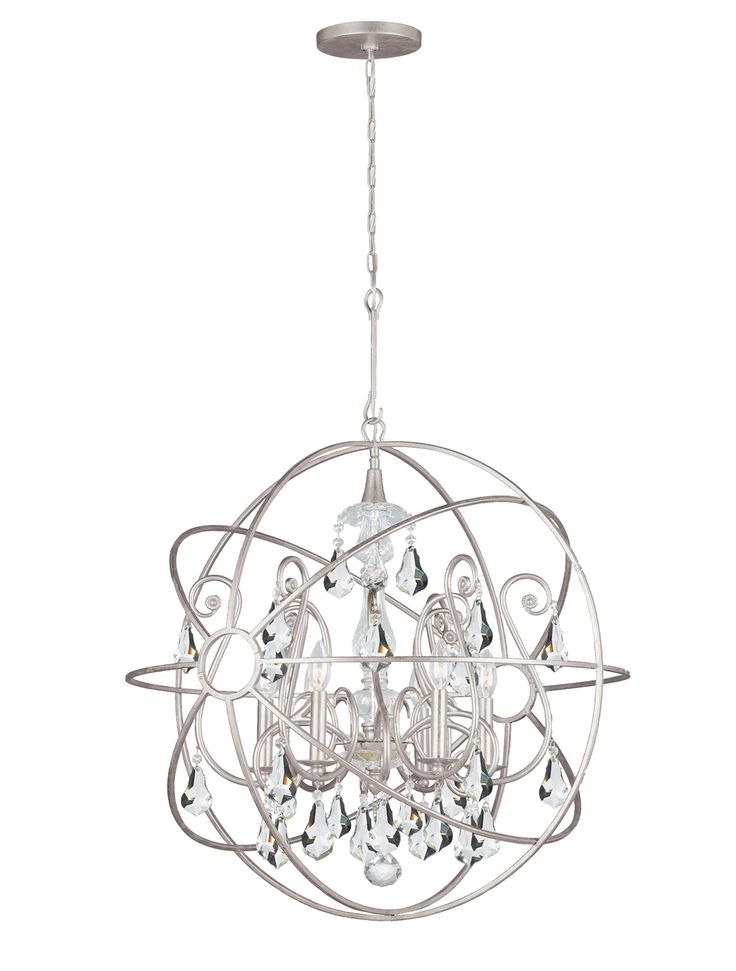 45 best chandelier images on pinterest chandelier chandeliers crystorama solaris chandelier with hand painted wrought iron sphere and a crystal chandelier dressed with clear hand cut crystals aloadofball Gallery