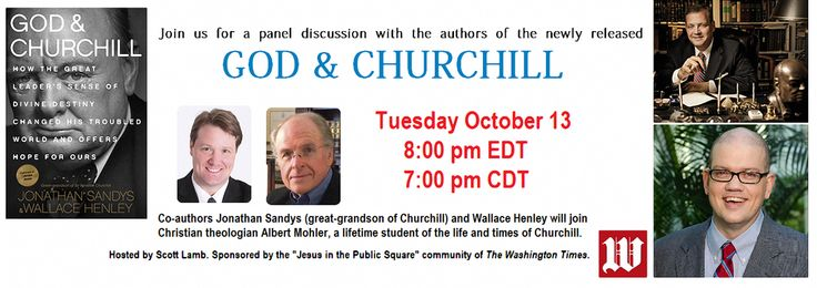 OCT 13 - Join us for a live discussion on 'God & Churchill' - Scott Lamb is hosting:  https://www.youtube.com/watch?v=ZBtaPZ2xV3A …