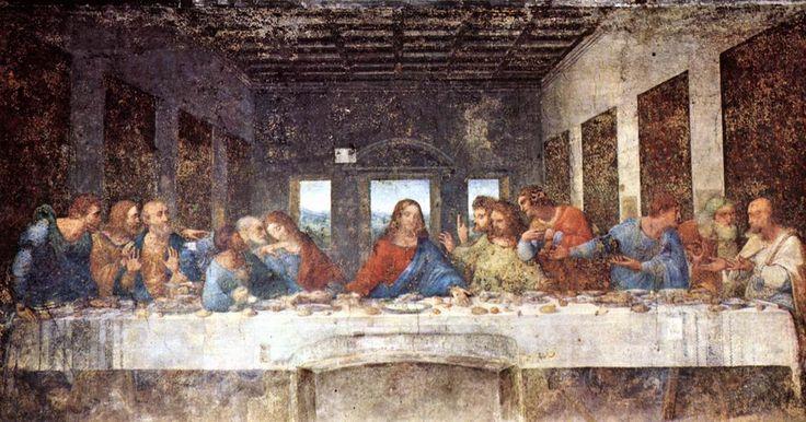 Italië: In een klooster in Milaan vinden we het prachtige fresco 'Het Laatste Avondmaal' (1495 - 1498) geschilderd door de Italiaanse meester Leonardo da Vinci (1452 - 1519). Het is gemaakt in opdracht van hertog Ludovico Sforza in de refter van het Santa Maria delle Grazie. Het is een afbeelding van een scène uit het Laatste Avondmaal van Jezus zoals beschreven in de Bijbel en het is gebaseerd op Johannes 13:21-26 waarin Jezus aankondigt dat één van zijn twaalf discipelen hem zal verraden.