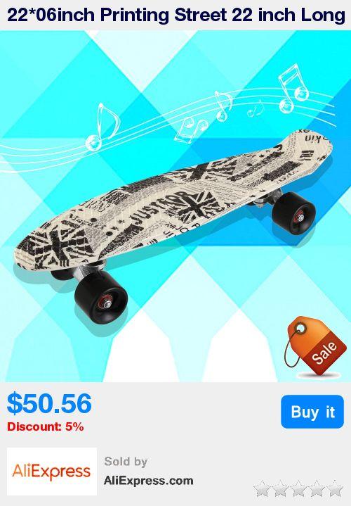 22*06inch Printing Street 22 inch Long Skate Board Complete Retro Graffiti Style Skateboard Cruiser Long Board Skateboards * Pub Date: 15:19 Jul 1 2017