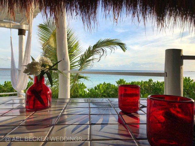 Our table at Mistura Xpuha by Hotel Esencia, Riviera Maya, Mexico. Ael Becker Weddings, travel blogger.