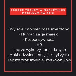 Mobile Marketing Automation | 7 gorących trendów w marketingu mobilnym na rok 2016 #CRMforMobile #Mobile #marketing #2016MobileMarketingTrendy