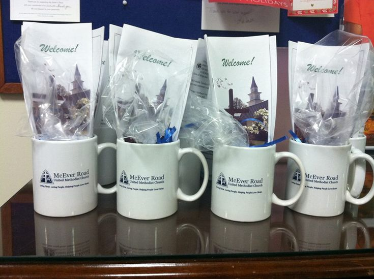 McEver Road United Methodist uses custom coffee mugs from Forte as a welcome gift for visitors to the church. Filled with information about the church and freshly-made fudge, each person receives a wonderful keepsake from the church and a warm reminder to come back again soon!  www.fortepromos.com