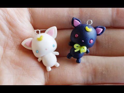[Sailor Moon Collab] Chibi Luna/Artemis Tutorial ft. Sweet Cute Tamy - YouTube