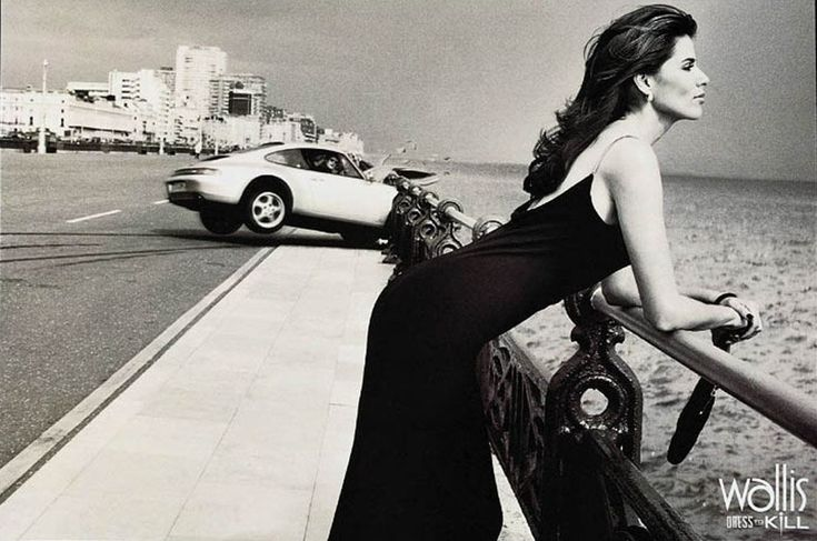 """""""Dress to kill"""" Advertising campaign by Wallis. ft. Brighton seafront and an old 911"""