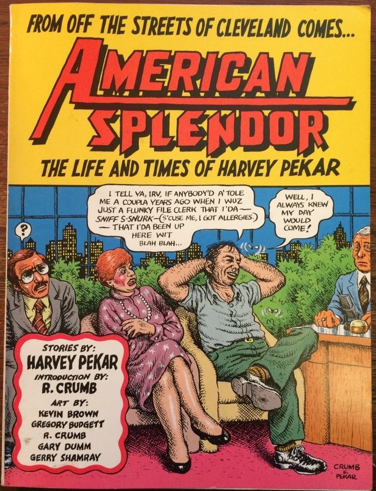 AMERICAN SPLENDOR: THE LIFE AND TIMES OF HARVEY PEKAR SOFTCOVER - CRUMB ART 1986
