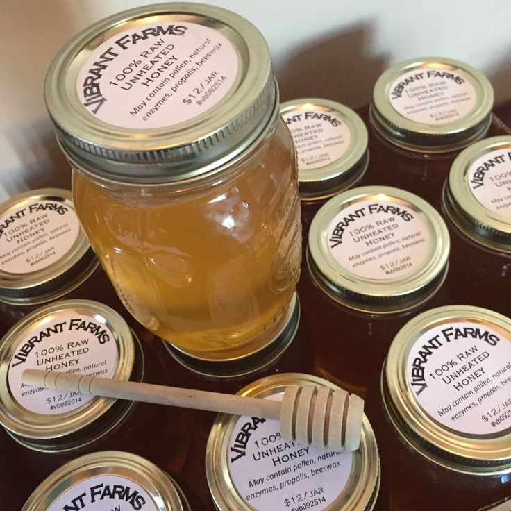 Raw honey raised on Vibrant Farms located in southwestern Ontario near Kitchener-Waterloo in Baden.