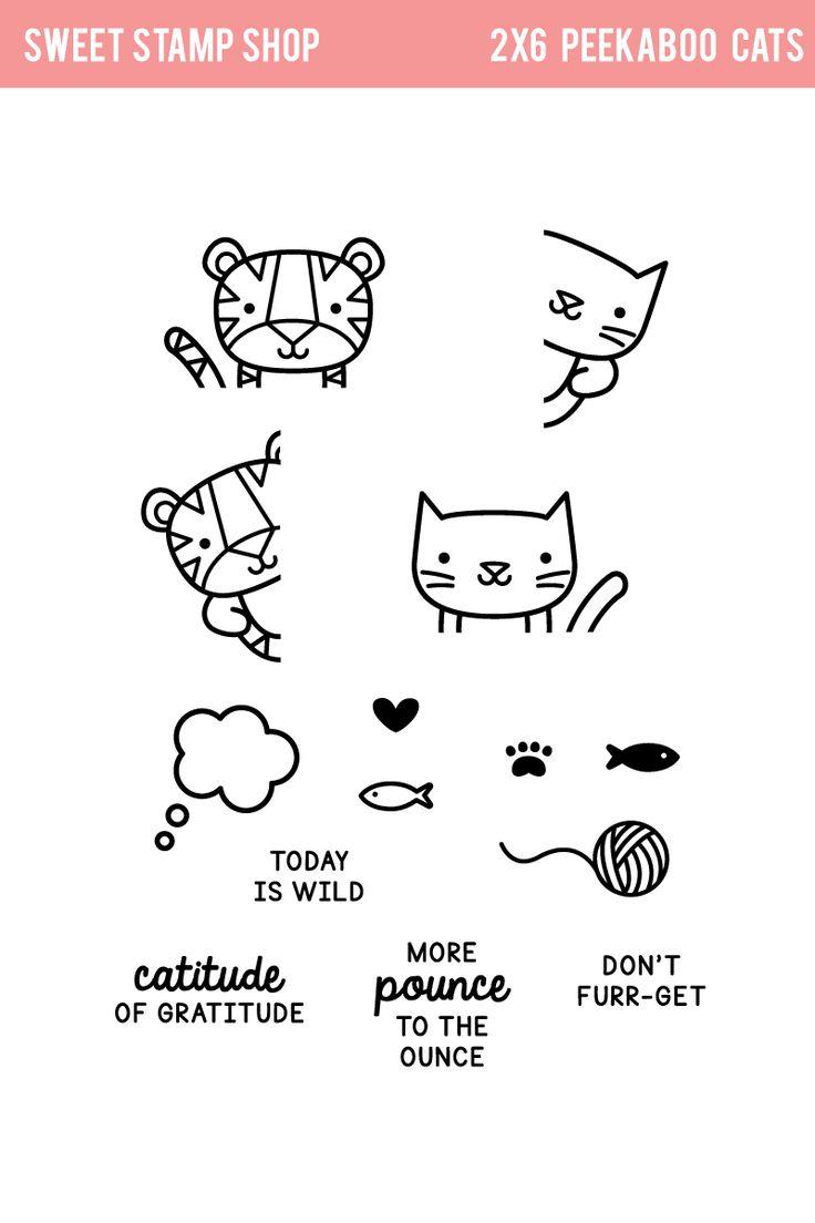 Peekaboo Cats | Sweet Stamp Shop