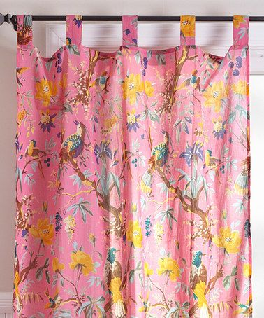 Karma Living Pink Bird Curtain Panel