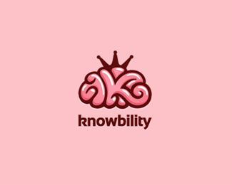 Knowbility Logo Design | More logos http://blog.logoswish.com/category/logo-inspiration-gallery/ #logo #design #inspiration