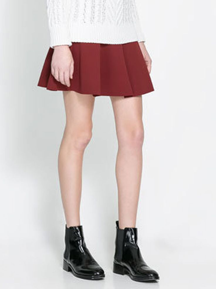 Red Skater Skirt | abaday