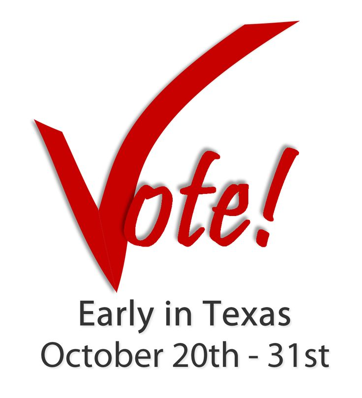 Get up to date on TX early voting locations, Texas voter id law and much more. Then go vote early from October 20-31, 2014.
