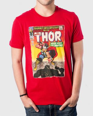 Start your Thor journey here with this Red T-shirt. It will never go out of style, and is as arty as the real comic book! Shop Now: http://voxpopclothing.com/thor/MATH0004MRD