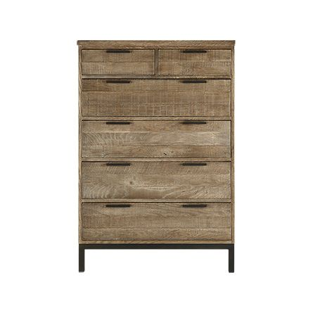 Palmer 2 Over 4 Drawer Dresser In Natural Oak   Arhaus Furniture