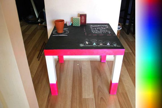BLACKBOARD / CHALKBOARD Timber Side Table  For by PrinterTimber. This chalkboard table can be used for multiple purposes. The possibilities are endless!! Whether it be used as a reminder board, a piece of furniture to add a chic and modern vibe to your home or to use as a drawing table, this table is sure to be a hit!!