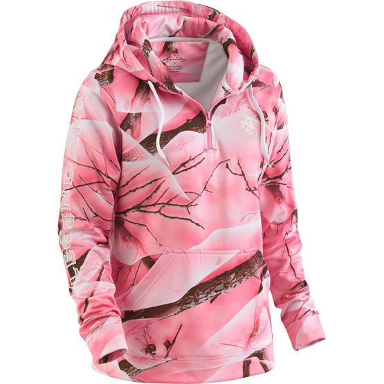 Camo and pink hoodie