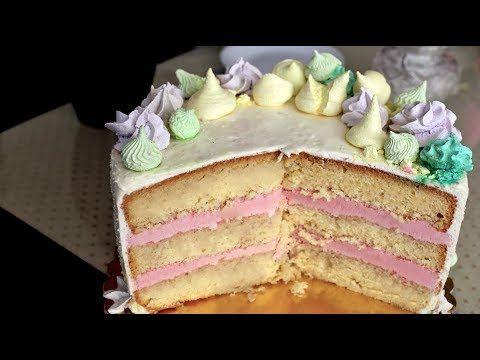 Orchideli - pink unicorn cake. Birthday cake for girl. Pink raspberry cake with fondant unicorn.