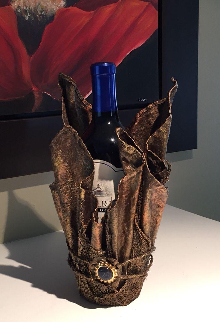 Wine Bottle Holder. A Rosalie Levi.com original