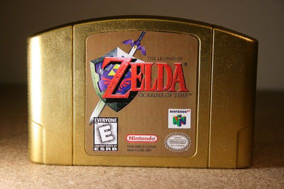 Zelda Ocarina of Time gold cartridge for those that pre-ordered