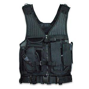 BESTEK Gilet avec ceinture tactique détachable en application avec les lois et réglementations