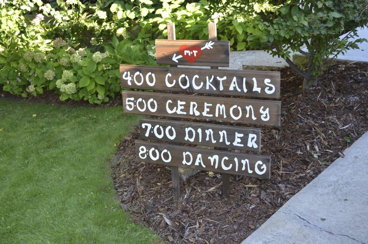 Garden wedding. Welcome sign