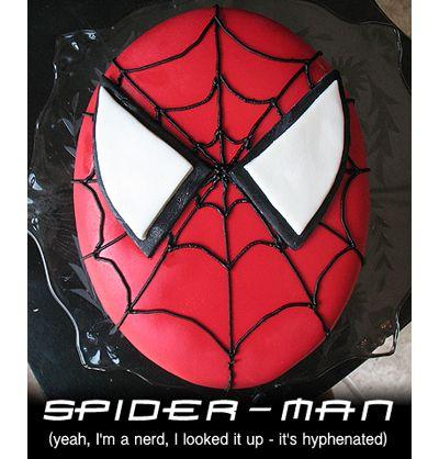 Spiderman Cake and Homemade Marshmallow Fondant - Amanda's Cookin'