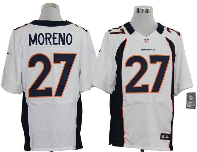 158194341ed ... NIKE Denver Broncos 27 Knowshon Moreno elite jersey in white 2012 New NFL  Jerseys Denver Broncos 27 Knowshon ...