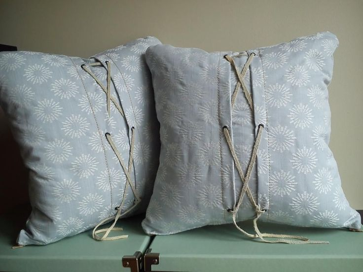 Scattered Cushion Covers vintage shabby chic style check fabric light blue | eBay