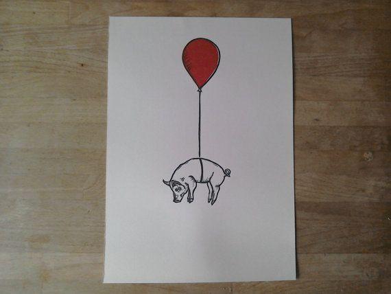 Ik denk ik CAN FLY  limited edition door HeatherMathiesonShop