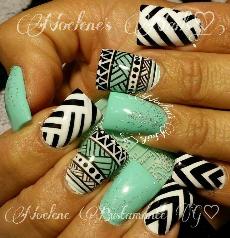 Mejores 64 imágenes de uñas tribal en Pinterest   Uñas bonitas, Uñas ...
